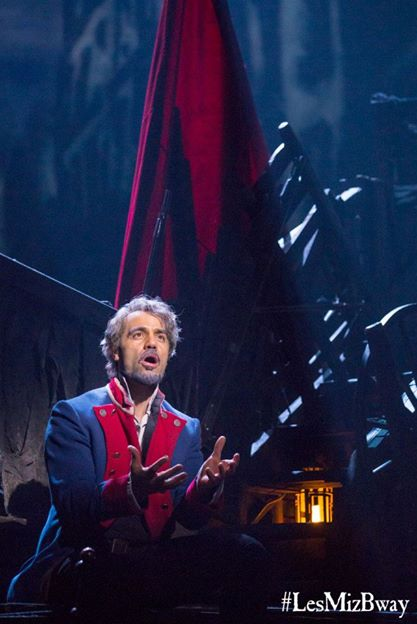 Ramin Karimloo as Jean Valjean in the Broadway revival of Les Misérables. Photo courtesy of Les Misérables on Broadway