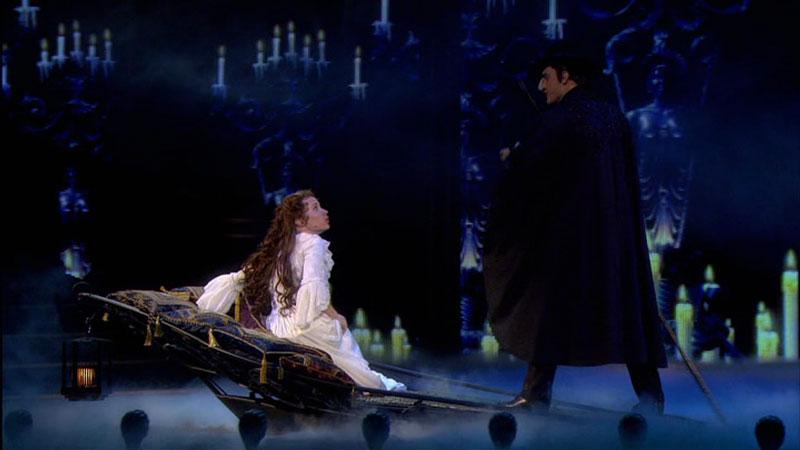Sierra Boggess and Ramin Karimloo star in The Phantom of the Opera at the Royal Albert Hall photo: Alasatir Muir/Getty Images & NBC/Universal
